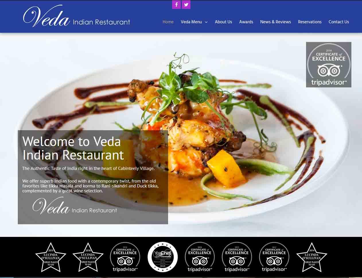 veda restaurant web image