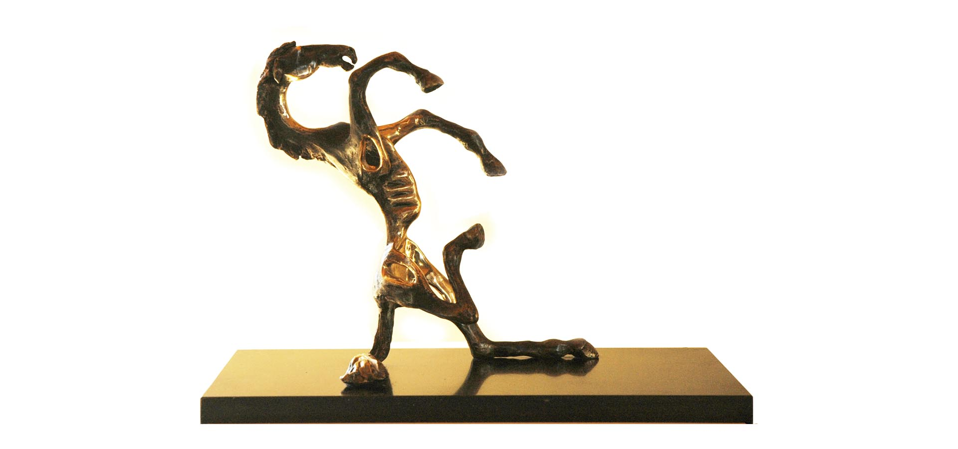 Image of bronze horse frollicking titled You Must Be Joking by Ani Mollereau